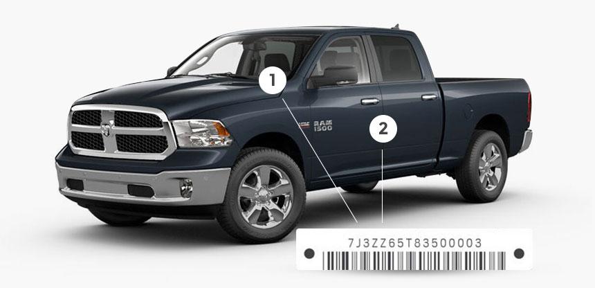 Recall Ram Trucks VIN number